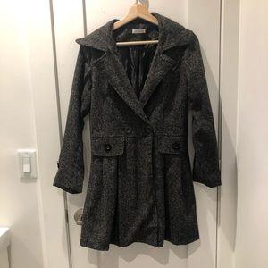 Jackets & Blazers - Grey A-line Style Pea Coat